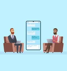 business correspondence businessman communicates vector image