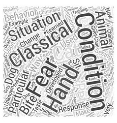 Classical Conditioning and Pet Training Word Cloud vector