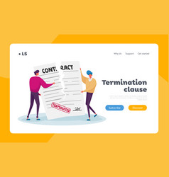 Contract cancellation agreement termination vector