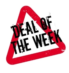 Deal of the week rubber stamp vector
