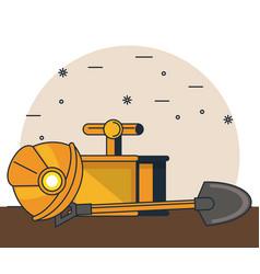 diamonds mining cartoons vector image