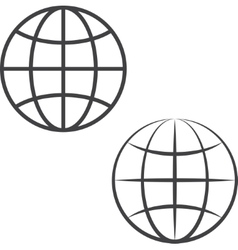 Earth globe icons vector image