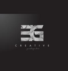 Eg e g letter logo with zebra lines texture vector