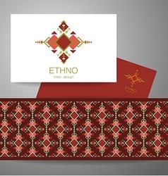 ethno tribal design vector image