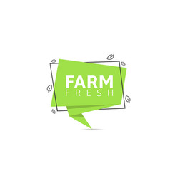 farm fresh products label vector image