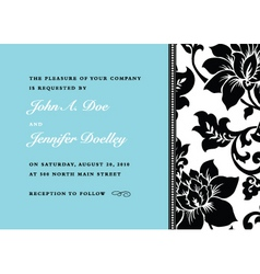 Floral side pattern and frame vector