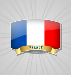 french flag icon vector image