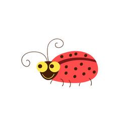Funny ladybug cartoon vector