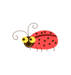 funny ladybug cartoon vector image
