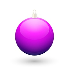 Gradient christmas purple ball vector
