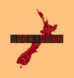 Graphic new zealand lockdown vector