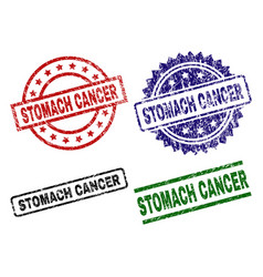 Grunge textured stomach cancer seal stamps vector