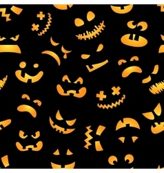 Halloween pumpkin seamless pattern Red pumpkins vector image