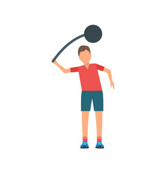 Hammer throw vector