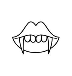happy halloween celebration mouth teeth dracula vector image
