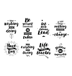 Inspirational quotes set vector image