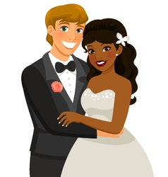 Interracial marriage vector