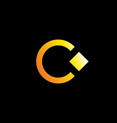 Letter C logo icon design template with ring and vector