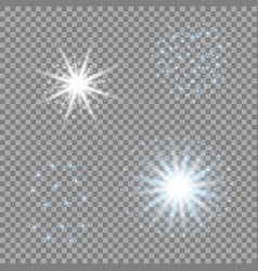 light stars blue glare for your design vector image