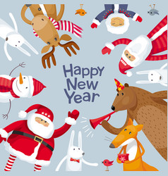 merry christmas image vector image