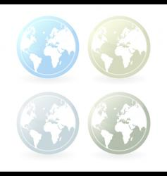 mildly colored world map icons vector image