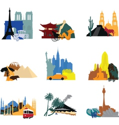 Miniatures different countries vector