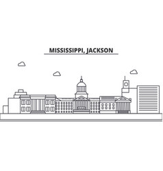 Mississippi jackson architecture line skyline vector