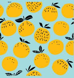 orange fruits seamless pattern vector image