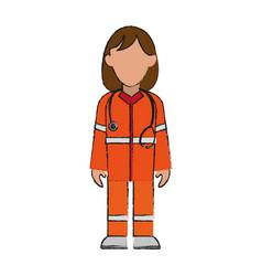 Paramedic woman avatar icon image vector