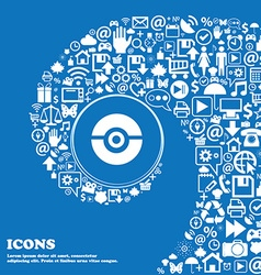 Pokeball icon sign Nice set of beautiful icons vector