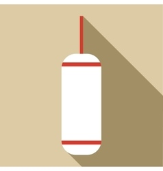 Punching bag icon flat style vector