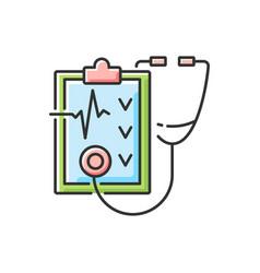 Regular health checkups rgb color icon vector