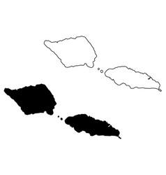Samoa map vector