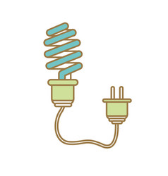 Save bulb with power cable vector