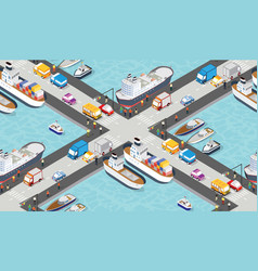 seamless industrial city map pattern isometric vector image