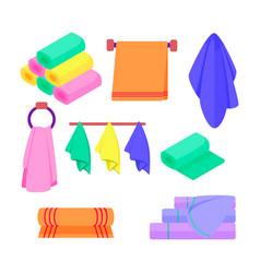 Set towel vector