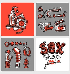 Sex shop vector