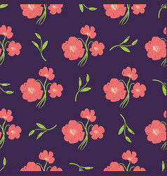 simple beautiful hand-drawn flowers vector image