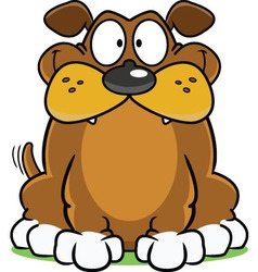 Smiling Dog Cartoon vector image