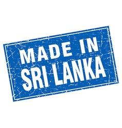 Sri Lanka blue square grunge made in stamp vector