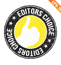 Stamp sticker editor choice collection - - vector