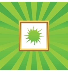 Starburst picture icon vector image