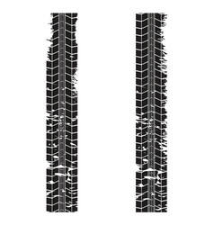 tire tracks on white vector image