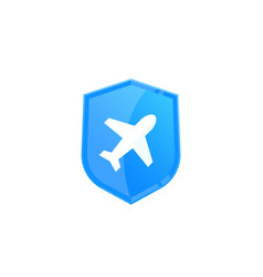 Travel insurance logo vector