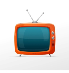 Tv retro cartoon style vector image