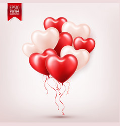 Valentine s day abstract background with red 3d vector