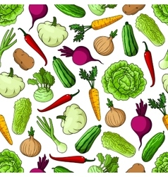 Vegetables background Seamless pattern wallpaper vector image