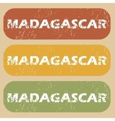 Vintage Madagascar stamp set vector
