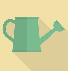 Watering can flat icon vector image
