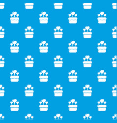 wedding cake pattern seamless blue vector image